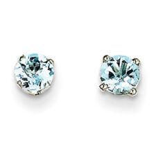 Pendientes de joyería con gemas azul de oro blanco aguamarina