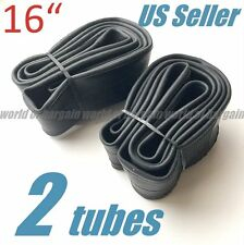 "2 pcs 16"" BIKE TUBE BMX Kids Bicycle Tire Inner Interior Rubber 16 x 1.75-2.125"