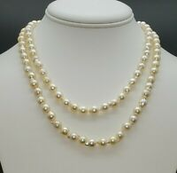 Genuine Japanese Akoya Pearl Necklace Double Strand Estate Saltwater