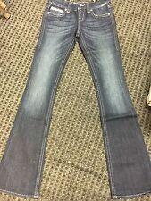 Brand New Womens Dark Blue Klarry Rock Revival Boot Cut Jeans Size 23 Very Nice!