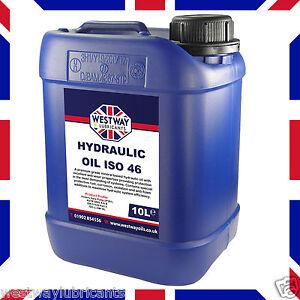 Hydraulic Oil ISO 46 Fluid 10L VG46 Westway High Grade 10 Litres DIN 51524