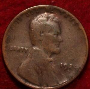 1924-D Denver Mint Copper Lincoln Wheat Cent