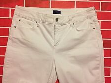 NYDJ Not Your Daughters Jeans 12 straight 33 X 29 Tummy Tuck White Jeans stretch