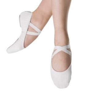 Bloch SO284L Performa White canvas split sole ballet shoes.