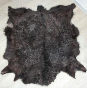goatskin rug natural skin goatskin carpet Dog bed Cat bed Pet bed 100*88cm