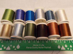 12 Lg Spools Sulky Thread New Rayon Sewing Embroidery Bernina  Viking