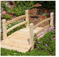 Outdoor Garden Bridge 4 Ft Natural Unfinished Walkway Path Foot Decor Backyard