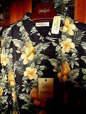 Tommy Bahama FAB NEW NWT men's Shirt Hawaiian Tropical M PINEAPPLE FIESTA CAMP