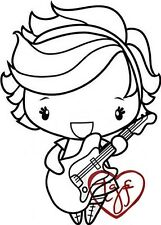 ROCKSTAR ANYA-The Greeting Farm Cling Rubber Stamp-Stamping Craft-RETIRED