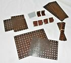 BAYKO PARTS DARK BROWN & OTHER SMALL SELECTION AS SHOWN x SEVERAL pcs