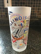 NEW-Never Used~ Catstudio 2004 ILLINOIS Frosted Highball Glasses Barware