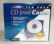"""NEW """"BELKIN"""" 20 Picas Black Single Standard CD Jewel Cases"""