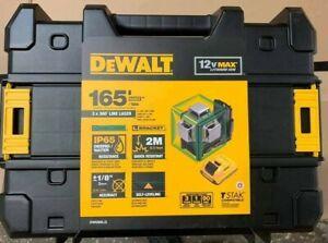 Dewalt DW089LG 12V 3 x 360-Degree Lit-Ion Green Beam Line Laser - NEWEST VERSION