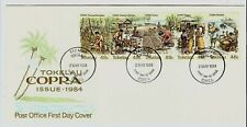 W153 Tokelau 1984 FDC set  agriculture food stamps