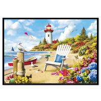 5D DIY diamond painting Seaside lighthouse mosaic home decoration Cross Stitch