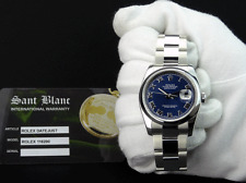 ROLEX Mens Stainless DateJust Blue Roman Dial Oyster Bracelet 116200 SANT BLANC
