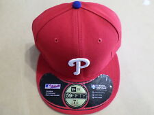 New MLB Authentic New Era 59Fifty PHILADELPHIA PHILLIES FITTED HAT Sz 7-1/2