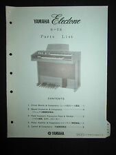 Yamaha Electone Electric Organ B-2R Parts List Manual Keyboard DEALER B 2 R