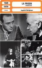 FICHE CINEMA : LA PRISON - Svedlund,Malmsten,Bergman 1949 Fängelse
