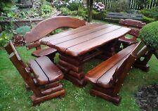 Sitzgruppe ohne Stühle Gartenmöbel Massivholz Terrassenmöbel   Erle/Buche 200x90