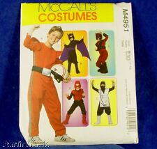 McCall's Costume 4951 5 Looks Superhero Boys 7-14 NEW!