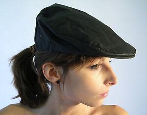 Brand New Flat Cap Olive Traditional Oilskin Wax Cotton Size XS S M L XL XXL