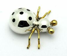 Sterling Silver .925 Mexico Gorgeous Spider Ladybug Insect Brooch 17.5g #5831
