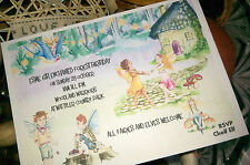 ENCHANTED FOREST - FAIRIES AND ELVES THEMED PERSONALISED BIRTHDAY PARTY INVITES