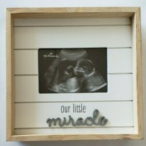 Our Little Miracle Sonogram Wood Picture Frame, 3.75x2.5