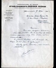 """VIRE (14) USINE de DRAPS """"BERGER Freres"""" en 1942"""