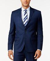 New $498 Michael Kors 38s Men'S Blue Classic-Fit Suit Jacket Blazer Sport Coat