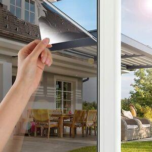 One Way Window Privacy Film Anti UV Heat Control Static Cling Mirror Reflective