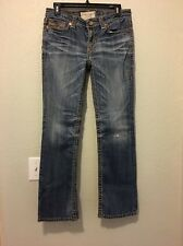 Big Star Junior Jeans Size 27s Low Rise Fit Distressed Wash W/holes (c4)