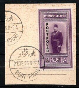 EGYPT 1926 Port Fouad  Used on PAPER RARE