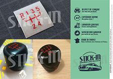 Autocollant Stickers Pommeau Renault 5 GT turbo GTT R5 gearknob gear knob