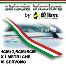 Adesivi striscia TRICOLORE Fascia bandiera Italiana 2,5cm x i metri che volete