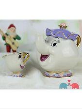 Disney Mrs. Potts Chip Tea Pot & Cup set Teapot Mug Beauty And The Beast UK