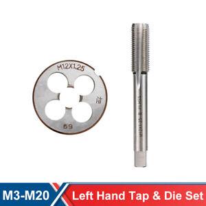 Left Hand M6-M16 Machine Metric Tap and Die HSS Steel Taper Thread Tap Drills