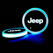 2PCS LED Car Cup Holder Lights Pad For JEEP Interior Atmosphere Lamp Lights