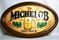 Vintage MICHELOB ANHEUSER BUSCH Beer Oval Framed Large SIGN Bar Man Cave