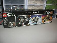 LEGO STAR WARS SUPER PACK 3 IN 1 SERIES 3 MICROFIGHTERS   NEW