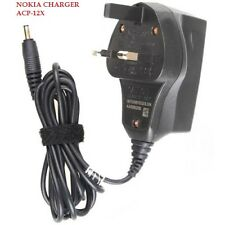 Nokia Mains Wall Charger ACP-12X Thick Big Pin For Old Various Mobile Phones New