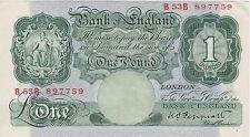 B260 K.O. Peppiatt B53B Verde una libra billete en buenas condiciones extremadamente fino