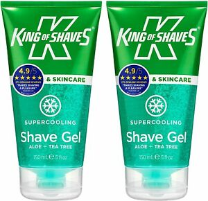 King of Shaves Supercooling Shave Gel with Aloe & Tea Tree 2 X 150 ML