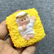 YELLOW Fisher Price Little People Square Baby Jesus FIGURE GIFT RARE DOLL FIGURE