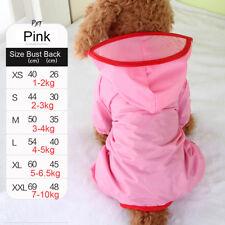 Waterproof Pet Rain Coat for Small Puppy Dogs Jacket Dog Rainwear Clothes New