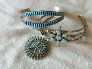 TURQUOISE & STERLING SILVER REPAIR LOT