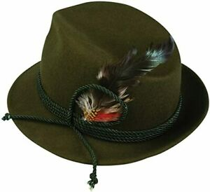 PMU German Alpine Oktoberfest Hat Deluxe Bavarian Hat with Feather Wholesale