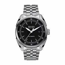 Bulova 63B193 Men's Tellaro Accu-Swiss Black Automatic Watch