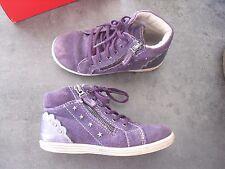 chaussure de marque BOPY taille pointure 28 en cuir soulier bottine violet fille